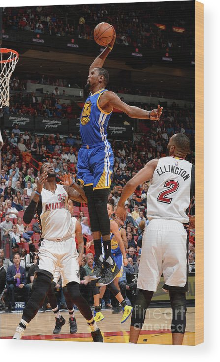 Nba Pro Basketball Wood Print featuring the photograph Kevin Durant by David Dow