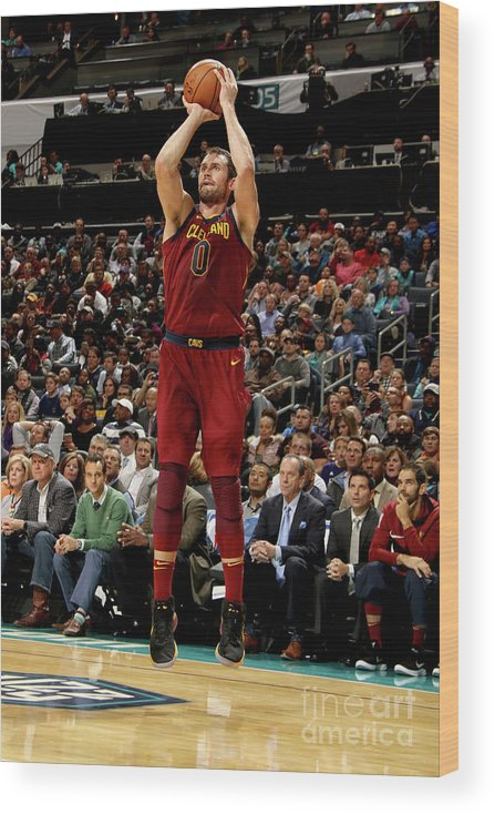 Nba Pro Basketball Wood Print featuring the photograph Kevin Love by Brock Williams-smith