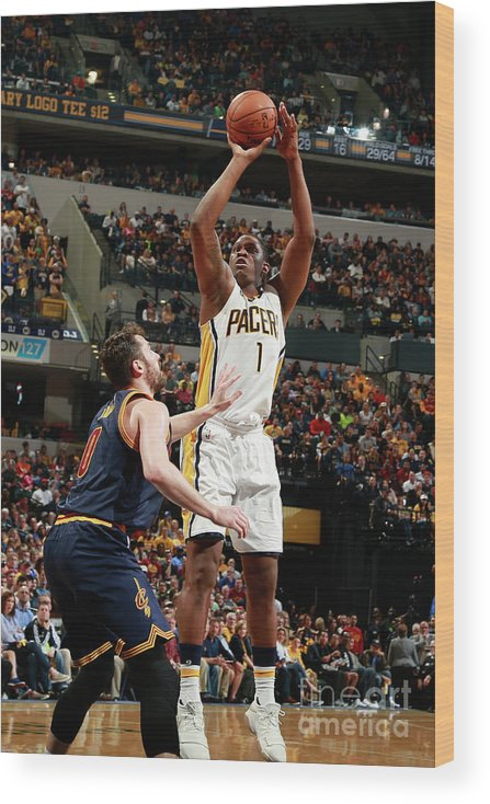 Playoffs Wood Print featuring the photograph Kevin Seraphin by Jeff Haynes