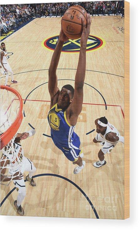 Nba Pro Basketball Wood Print featuring the photograph Kevon Looney by Garrett Ellwood