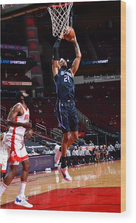 Nba Pro Basketball Wood Print featuring the photograph Khem Birch by Cato Cataldo