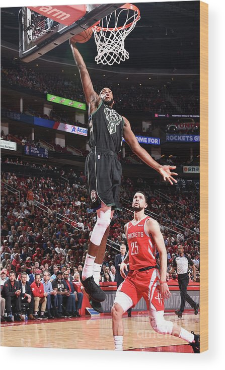Nba Pro Basketball Wood Print featuring the photograph Khris Middleton by Bill Baptist