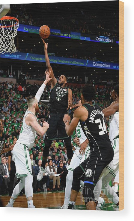 Playoffs Wood Print featuring the photograph Khris Middleton by Brian Babineau