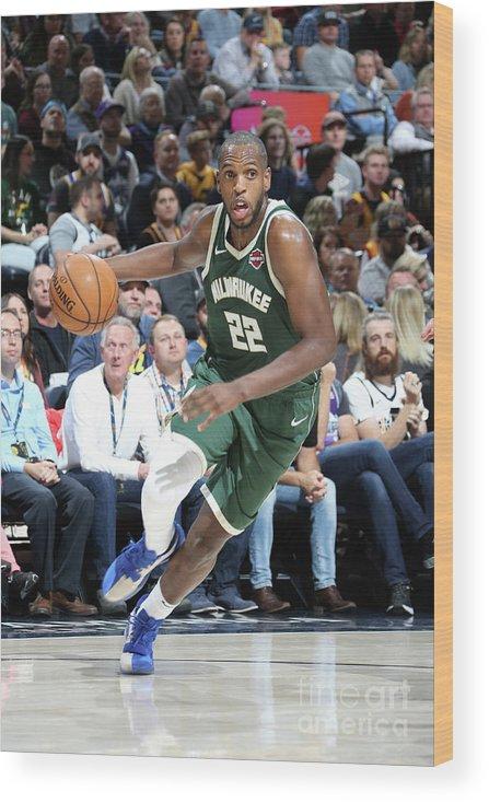 Nba Pro Basketball Wood Print featuring the photograph Khris Middleton by Melissa Majchrzak