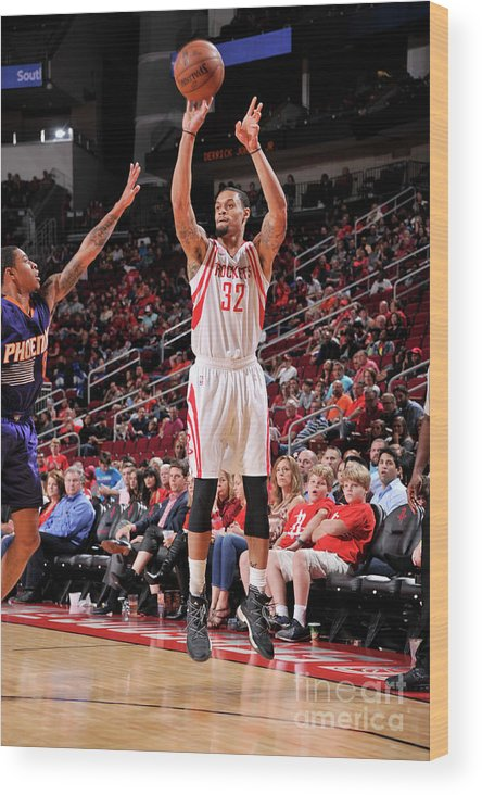 Nba Pro Basketball Wood Print featuring the photograph K.j. Mcdaniels by Bill Baptist