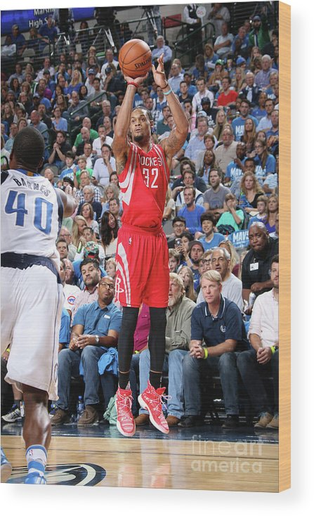 Nba Pro Basketball Wood Print featuring the photograph K.j. Mcdaniels by Glenn James