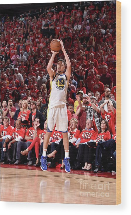 Playoffs Wood Print featuring the photograph Klay Thompson by Bill Baptist
