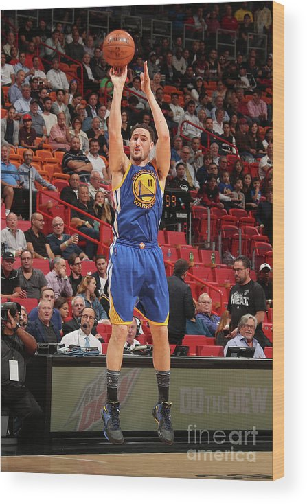 Nba Pro Basketball Wood Print featuring the photograph Klay Thompson by Issac Baldizon