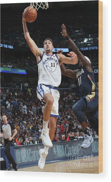 Smoothie King Center Wood Print featuring the photograph Klay Thompson by Layne Murdoch