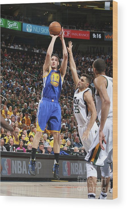Playoffs Wood Print featuring the photograph Klay Thompson by Melissa Majchrzak
