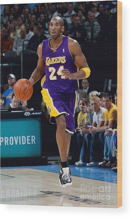 Nba Pro Basketball Wood Print featuring the photograph Kobe Bryant by Layne Murdoch