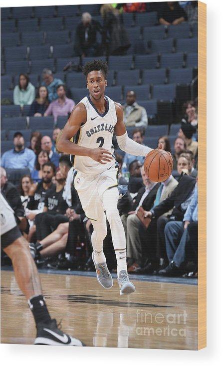 Nba Pro Basketball Wood Print featuring the photograph Kobi Simmons by Joe Murphy