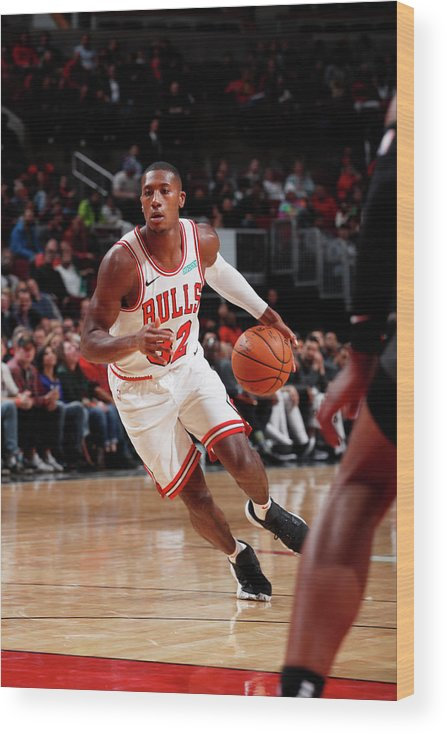 Chicago Bulls Wood Print featuring the photograph Kris Dunn by Jeff Haynes