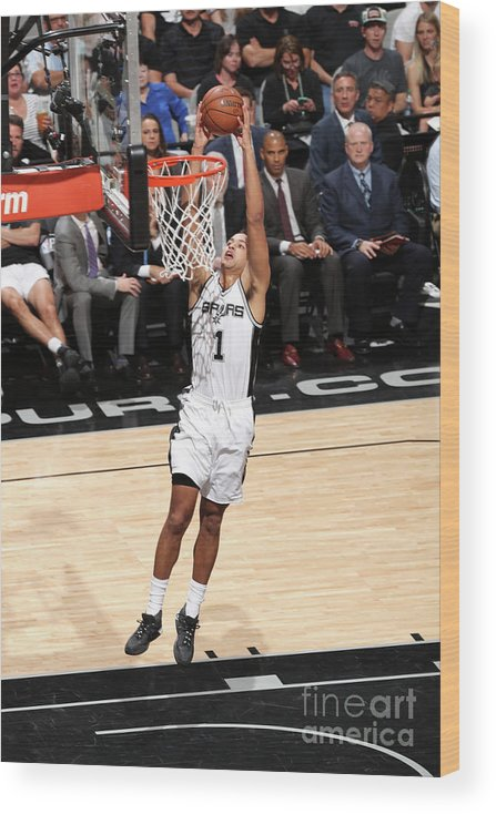 Playoffs Wood Print featuring the photograph Kyle Anderson by Joe Murphy