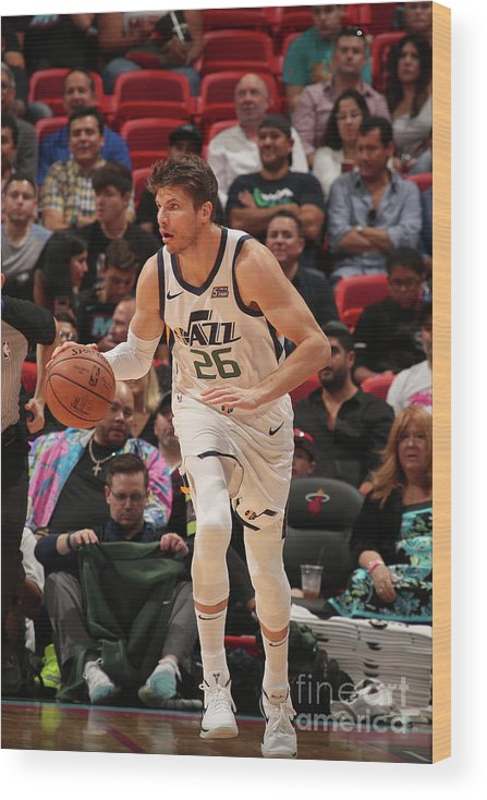Nba Pro Basketball Wood Print featuring the photograph Kyle Korver by Issac Baldizon
