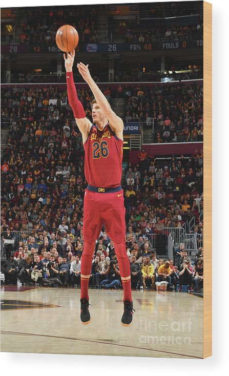 Nba Pro Basketball Wood Print featuring the photograph Kyle Korver by Jesse D. Garrabrant