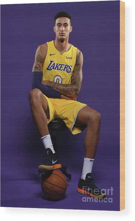 Media Day Wood Print featuring the photograph Kyle Kuzma by Aaron Poole