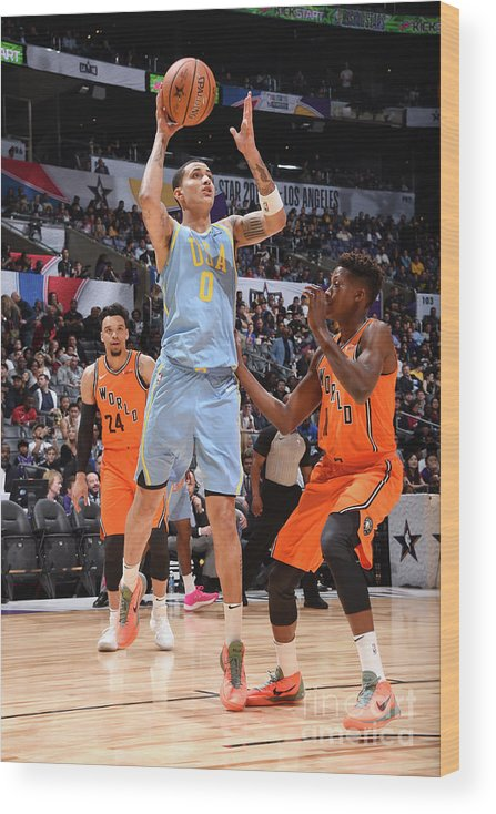 Event Wood Print featuring the photograph Kyle Kuzma by Andrew D. Bernstein