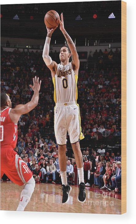 Nba Pro Basketball Wood Print featuring the photograph Kyle Kuzma by Bill Baptist