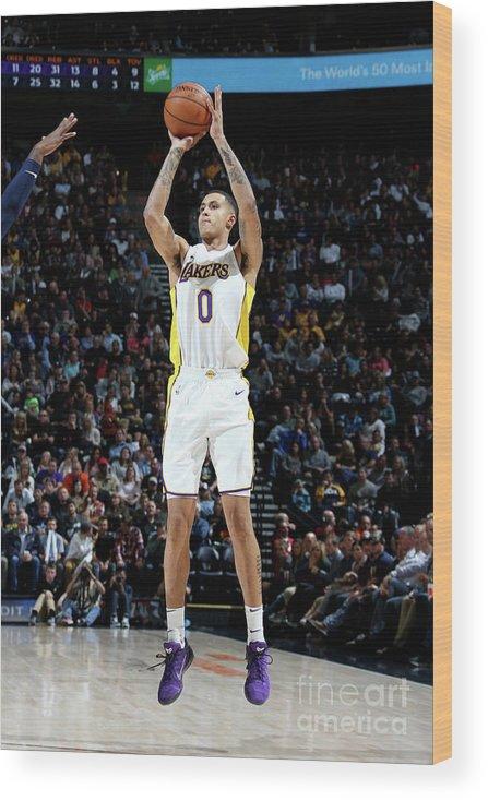 Nba Pro Basketball Wood Print featuring the photograph Kyle Kuzma by Melissa Majchrzak
