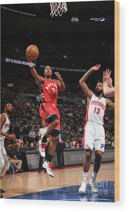 Nba Pro Basketball Wood Print featuring the photograph Kyle Lowry by Chris Schwegler