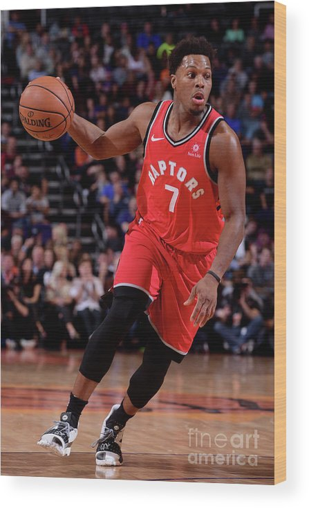 Nba Pro Basketball Wood Print featuring the photograph Kyle Lowry by Michael Gonzales