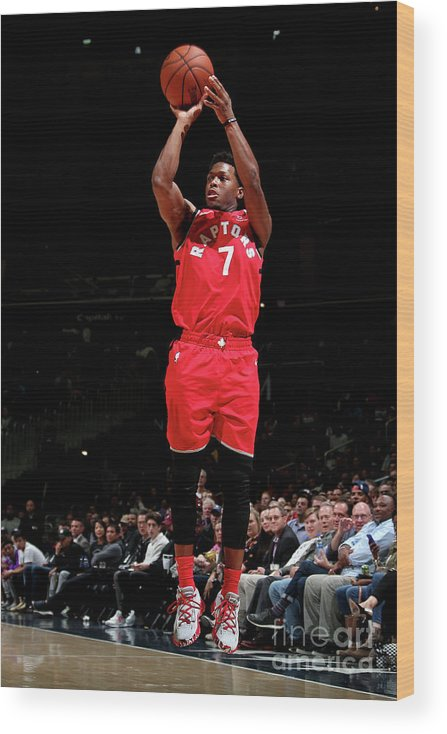 Nba Pro Basketball Wood Print featuring the photograph Kyle Lowry by Ned Dishman