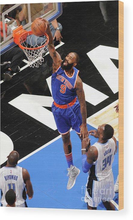 Nba Pro Basketball Wood Print featuring the photograph Kyle O'quinn by Fernando Medina