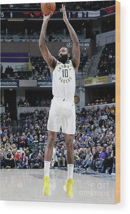 Nba Pro Basketball Wood Print featuring the photograph Kyle O'quinn by Ron Hoskins