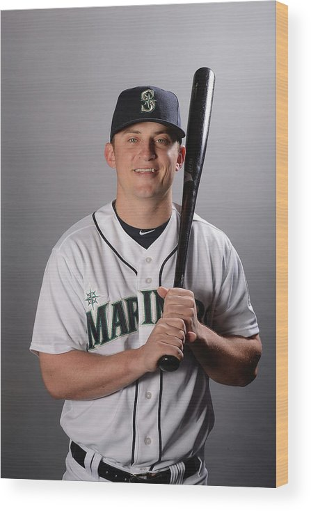 Media Day Wood Print featuring the photograph Kyle Seager by Norm Hall