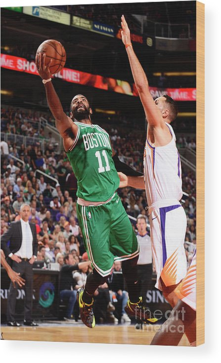 Nba Pro Basketball Wood Print featuring the photograph Kyrie Irving by Barry Gossage
