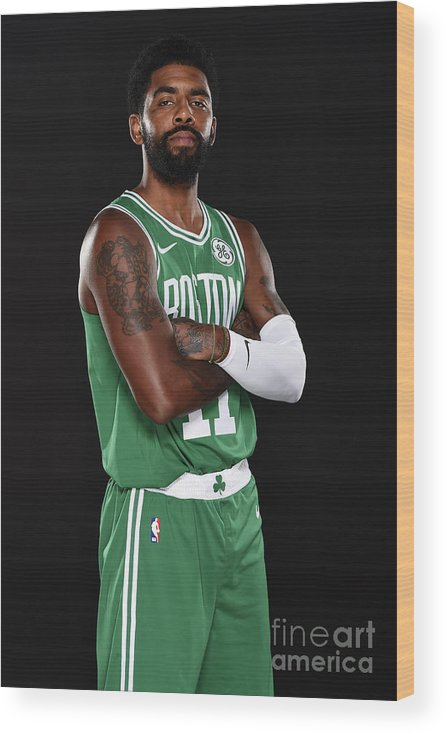 Media Day Wood Print featuring the photograph Kyrie Irving by Brian Babineau