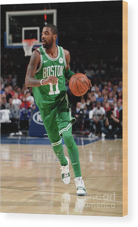 Nba Pro Basketball Wood Print featuring the photograph Kyrie Irving by David Dow