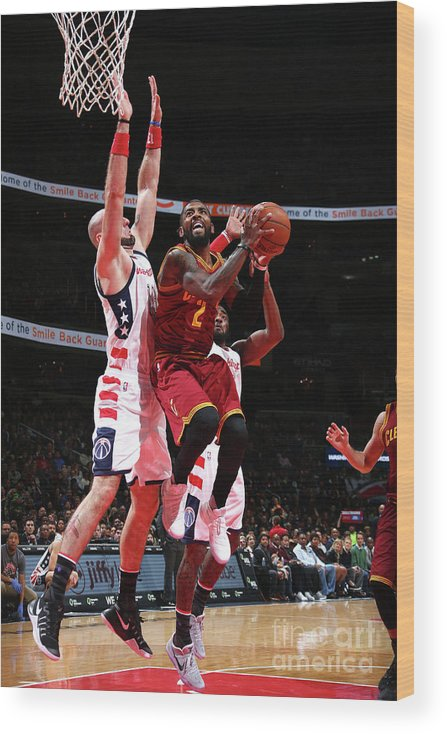 Nba Pro Basketball Wood Print featuring the photograph Kyrie Irving by Ned Dishman
