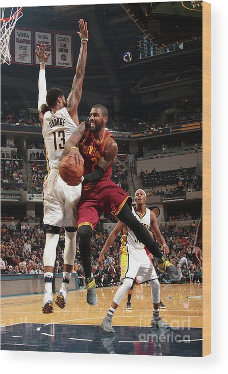 Nba Pro Basketball Wood Print featuring the photograph Kyrie Irving by Ron Hoskins