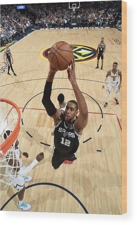 Playoffs Wood Print featuring the photograph Lamarcus Aldridge by Garrett Ellwood