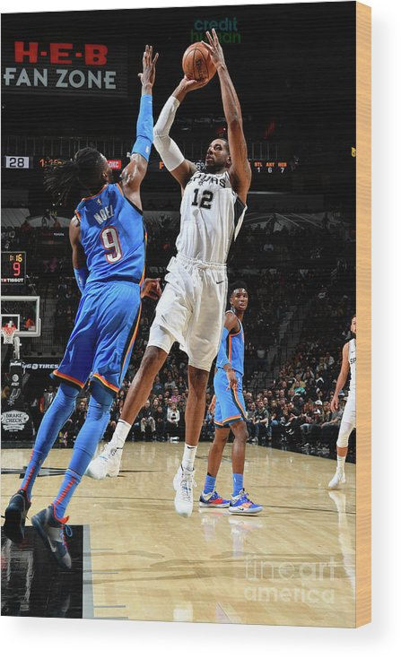 Nba Pro Basketball Wood Print featuring the photograph Lamarcus Aldridge by Logan Riely
