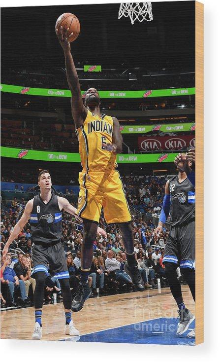 Nba Pro Basketball Wood Print featuring the photograph Lance Stephenson by Fernando Medina