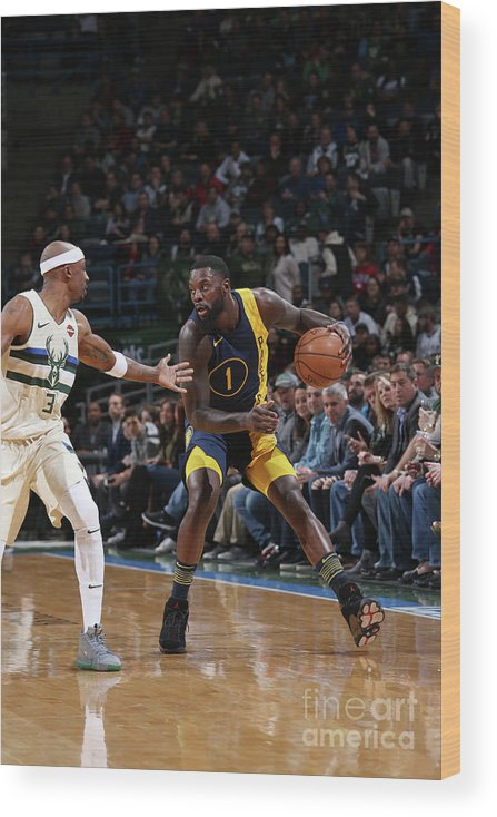 Nba Pro Basketball Wood Print featuring the photograph Lance Stephenson by Gary Dineen