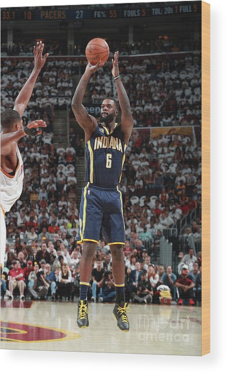 Playoffs Wood Print featuring the photograph Lance Stephenson by Jeff Haynes