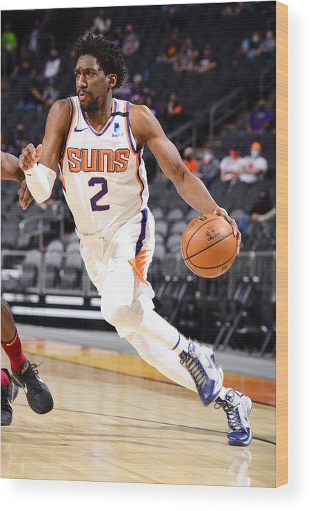 Nba Pro Basketball Wood Print featuring the photograph Langston Galloway by Barry Gossage