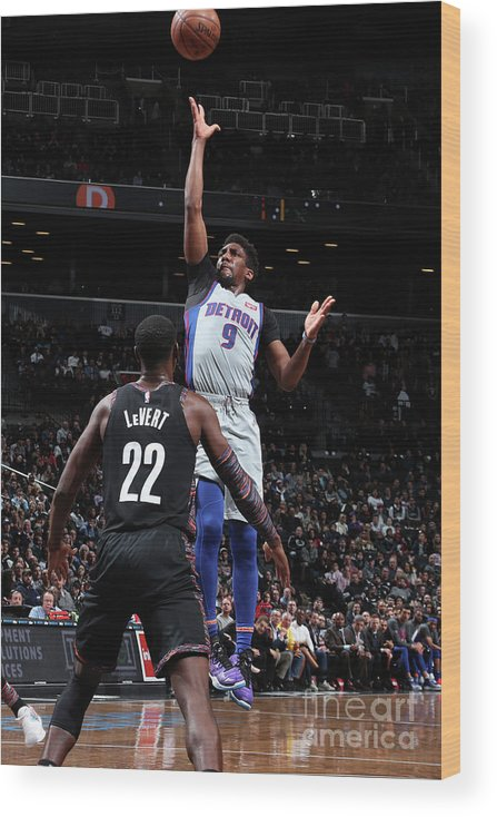 Nba Pro Basketball Wood Print featuring the photograph Langston Galloway by Nathaniel S. Butler