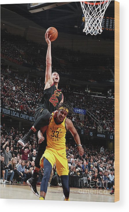 Playoffs Wood Print featuring the photograph Larry Nance by Nathaniel S. Butler