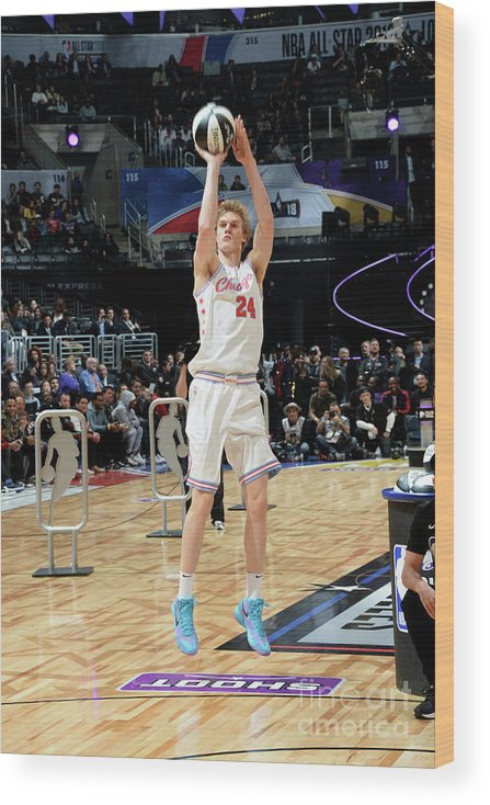 Event Wood Print featuring the photograph Lauri Markkanen by Andrew D. Bernstein
