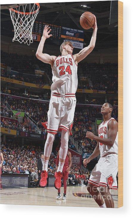 Chicago Bulls Wood Print featuring the photograph Lauri Markkanen by David Liam Kyle