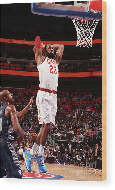 Nba Pro Basketball Wood Print featuring the photograph Lebron James by Brian Sevald