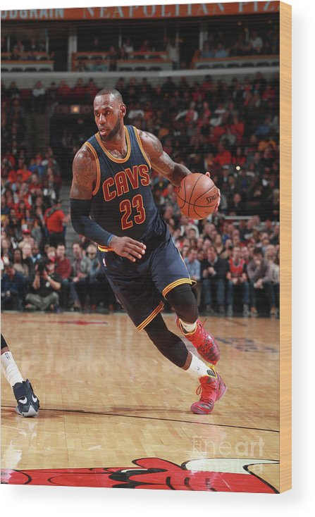 Nba Pro Basketball Wood Print featuring the photograph Lebron James by Jeff Haynes