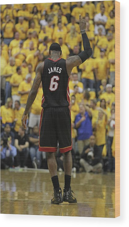 Playoffs Wood Print featuring the photograph Lebron James by Jonathan Daniel