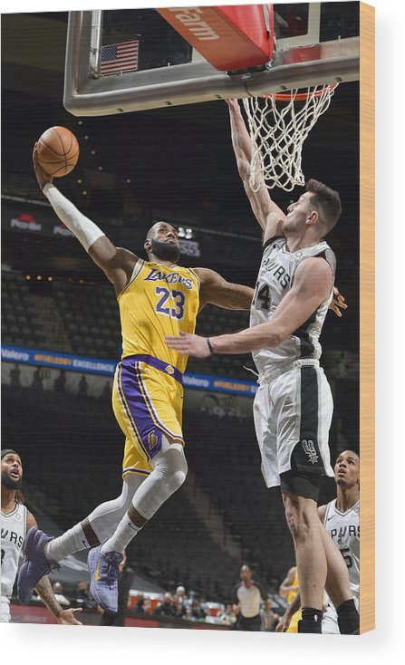 Nba Pro Basketball Wood Print featuring the photograph Lebron James by Logan Riely