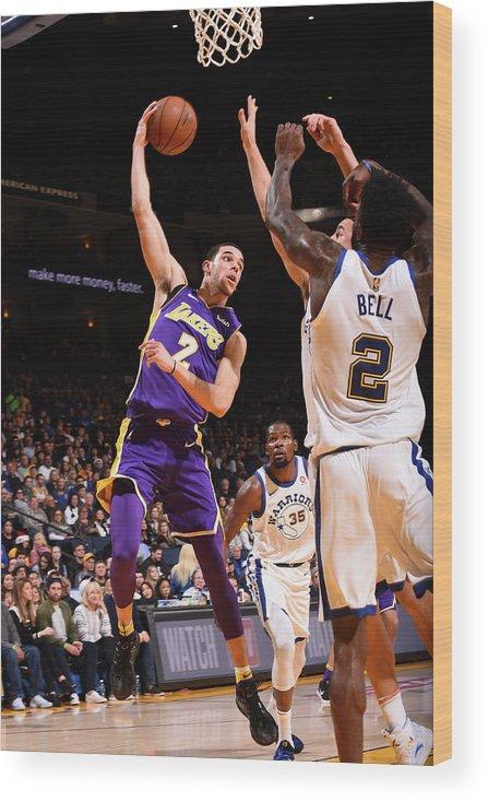 Nba Pro Basketball Wood Print featuring the photograph Lonzo Ball by Noah Graham